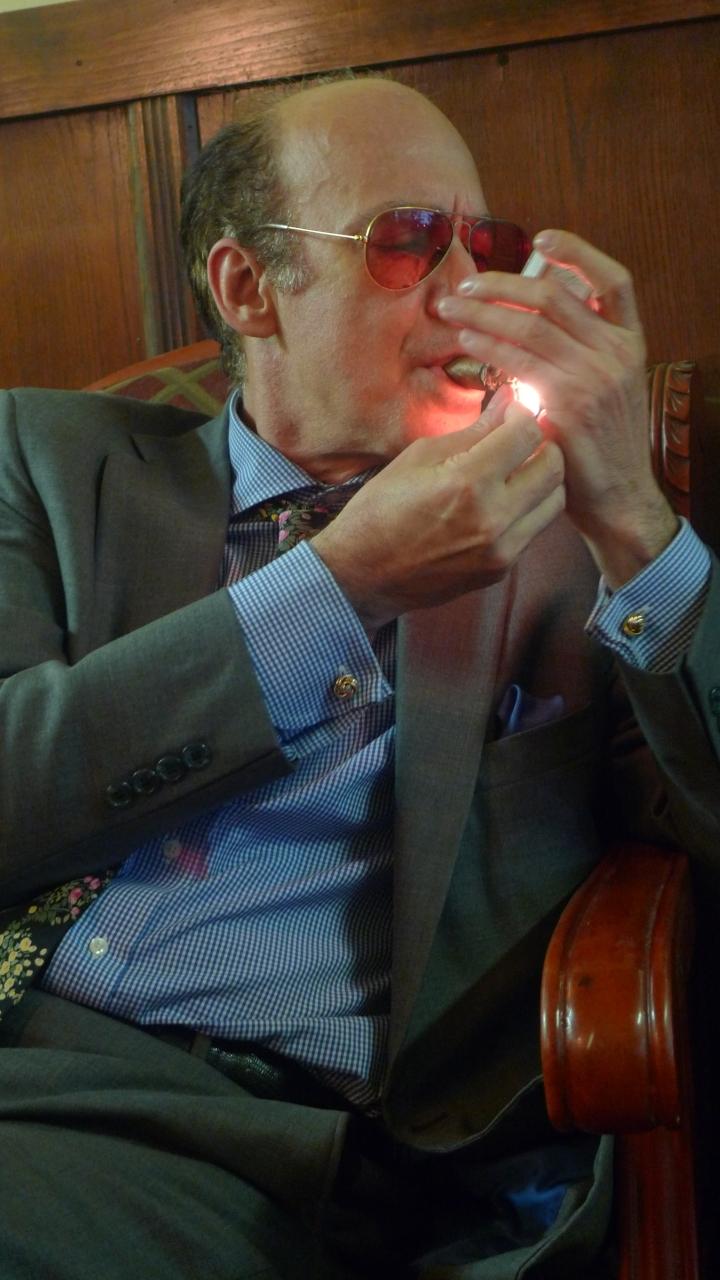 Cigar between twoFires