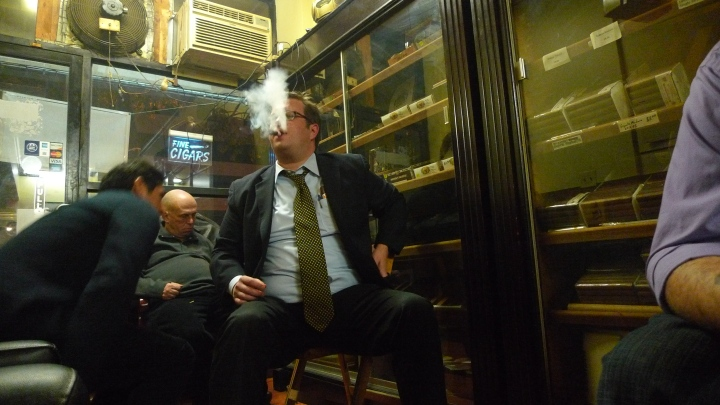 Ivan at NYC Fine Cigars, New York, NY / Leica D-Lux 4