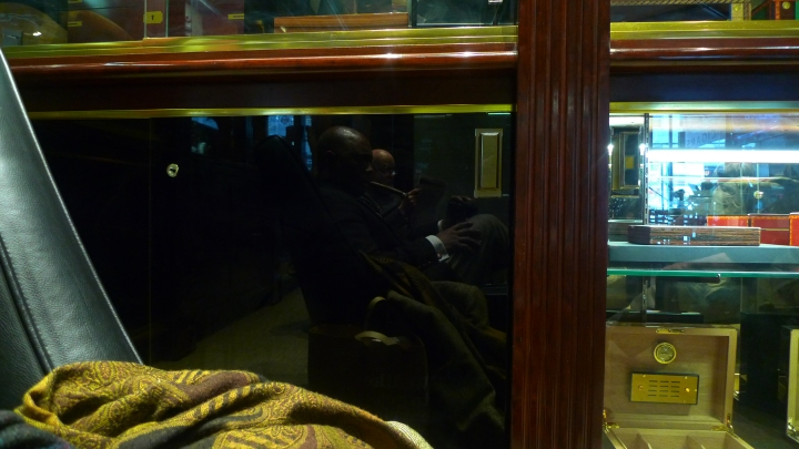 Reflection on Cabinet at De La Concha Tobacconist, New York, NY / Leica D-Lux 4