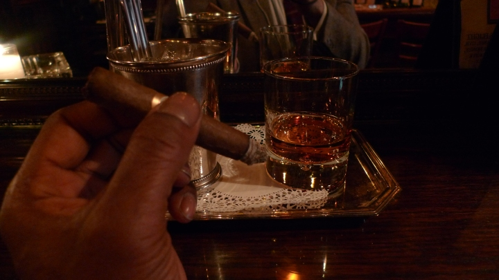 Pairing Rittenhouse Rye with a Cigar from H. Upmann / Hudson Bar and Books, New York, NY / Leica D-Lux 4