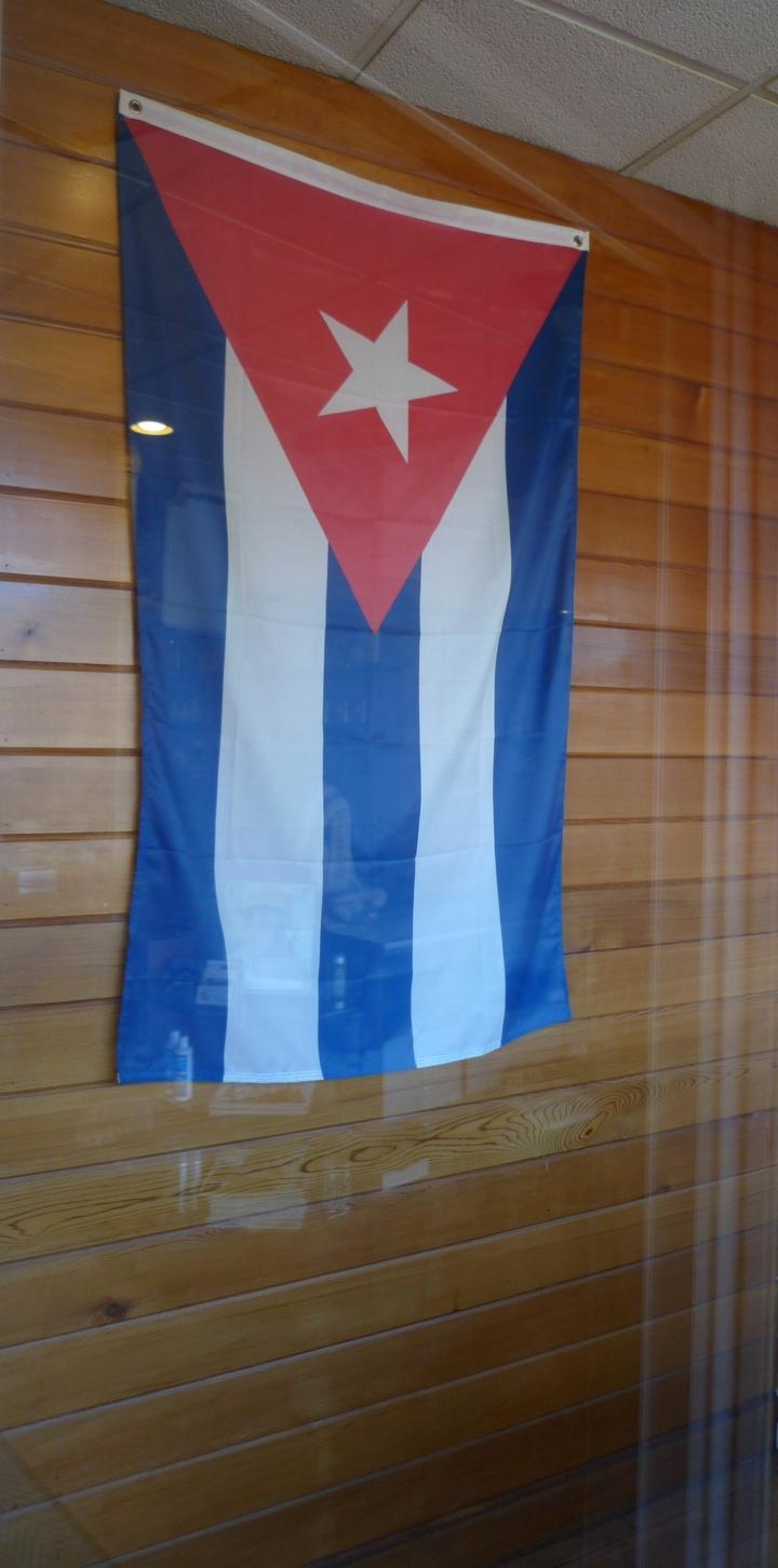 Flag of the Republic of Cuba / Havana on the Hudson Smoke Lounge, Weehawken, NJ / Leica D-Lux 4