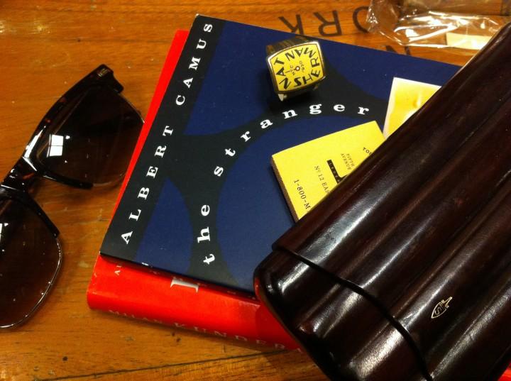 Ring of a Timeless Cigar from Nat Sherman, Albert Camus' The Stranger, Cigar Case and Sunglasses / Nat Sherman, New York, NY / iPhone 4