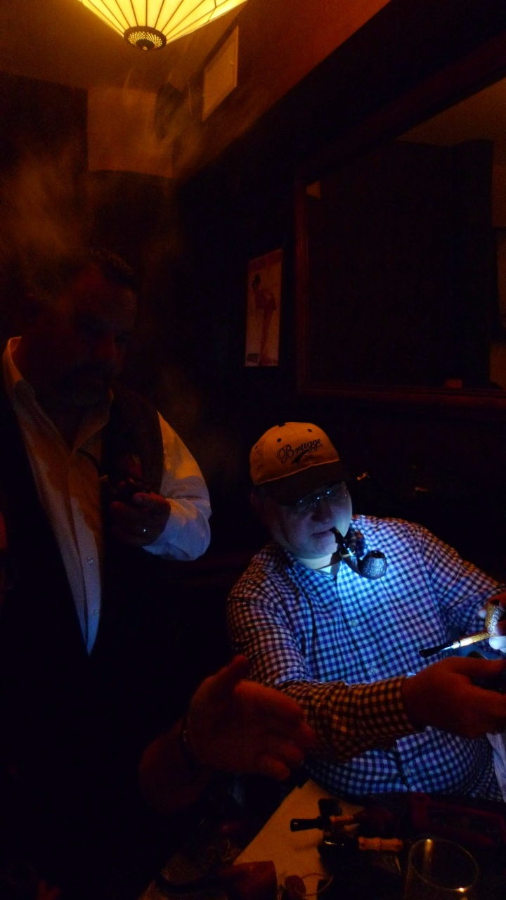 Louis Carbone and Hank Staachi - New York Pipe Club / Circa Tabac, New York, NY / Leica D-Lux 4