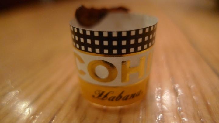 Cohiba Cigar ring / Coffee Reino, Roppongi, Tokyo, Japan / Leica D-Lux 4