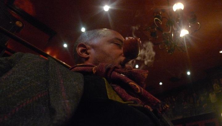 Ed Burak pipe / Cigar Inn, New York, NY / Leica D-Lux 4