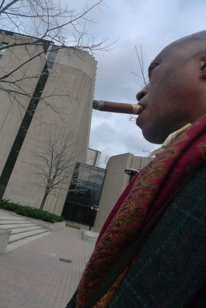 A Cigar Walk on the Streets of Toronto, Canada / Leica D-Lux 4