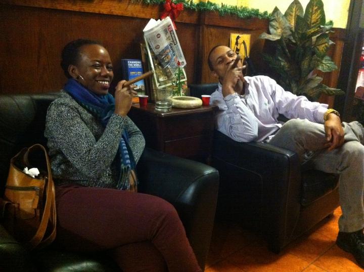 Asha and Anwar / NYC Fine Cigars, New York, NY / iPhone 4