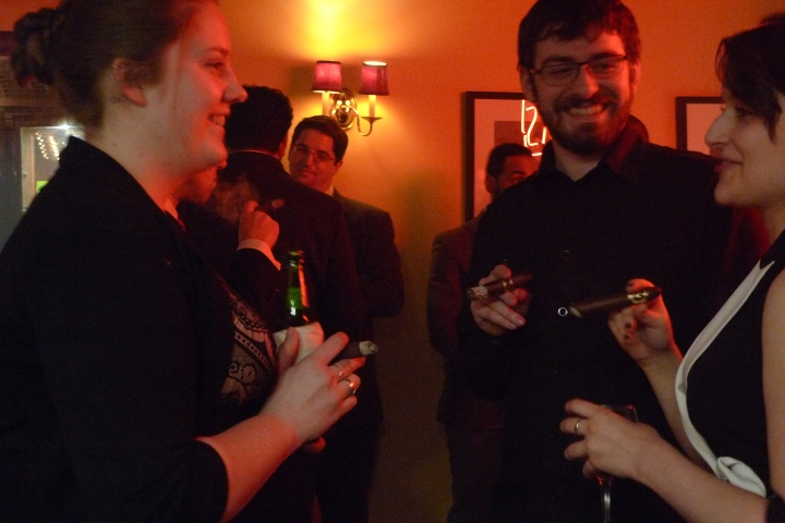 At the presentation of Hirochi Robeina's HR Cigars / Nat Sherman, New York, NY / Leica D-Lux 4