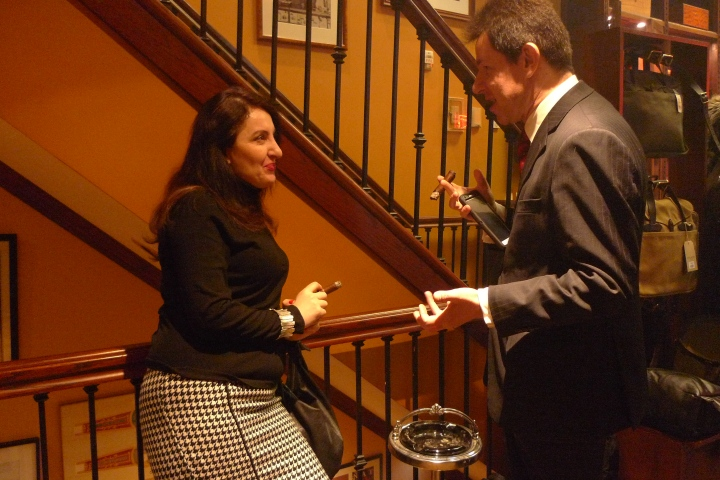 At the presentation of Hirochi Robaina's HR Cigars / Nat Sherman, New York, NY / Leica D-Lux 4