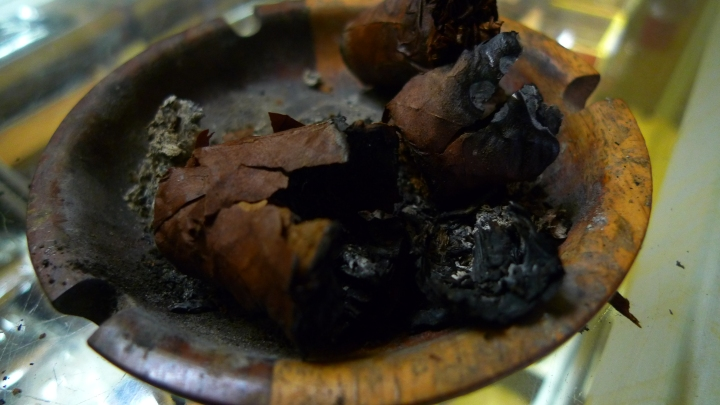 Cigar destroyed by a smoker / NYC Fine Cigars, New York, NY / Leica D-Lux 4