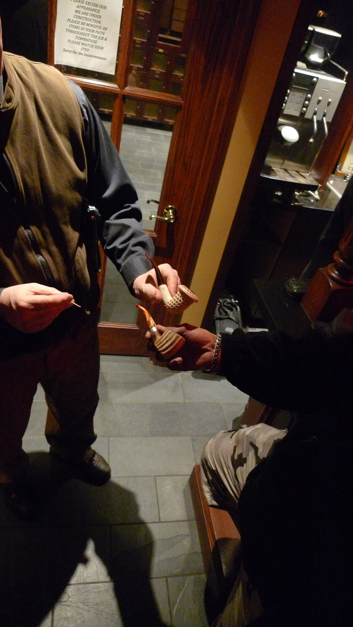 Younger and Older / Celebration of the International Pipe Smoking Day / New York Pipe Club / Nat Sherman, New York, NY / Leica D-Lux 4