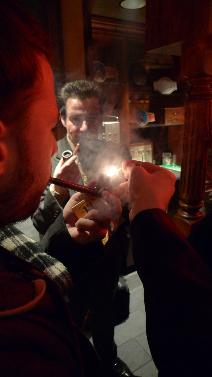 During celebration of the International Pipe Smoking Day by New York Pipe Club at Nat Sherman, New York, NY / Leica D-Lux 4