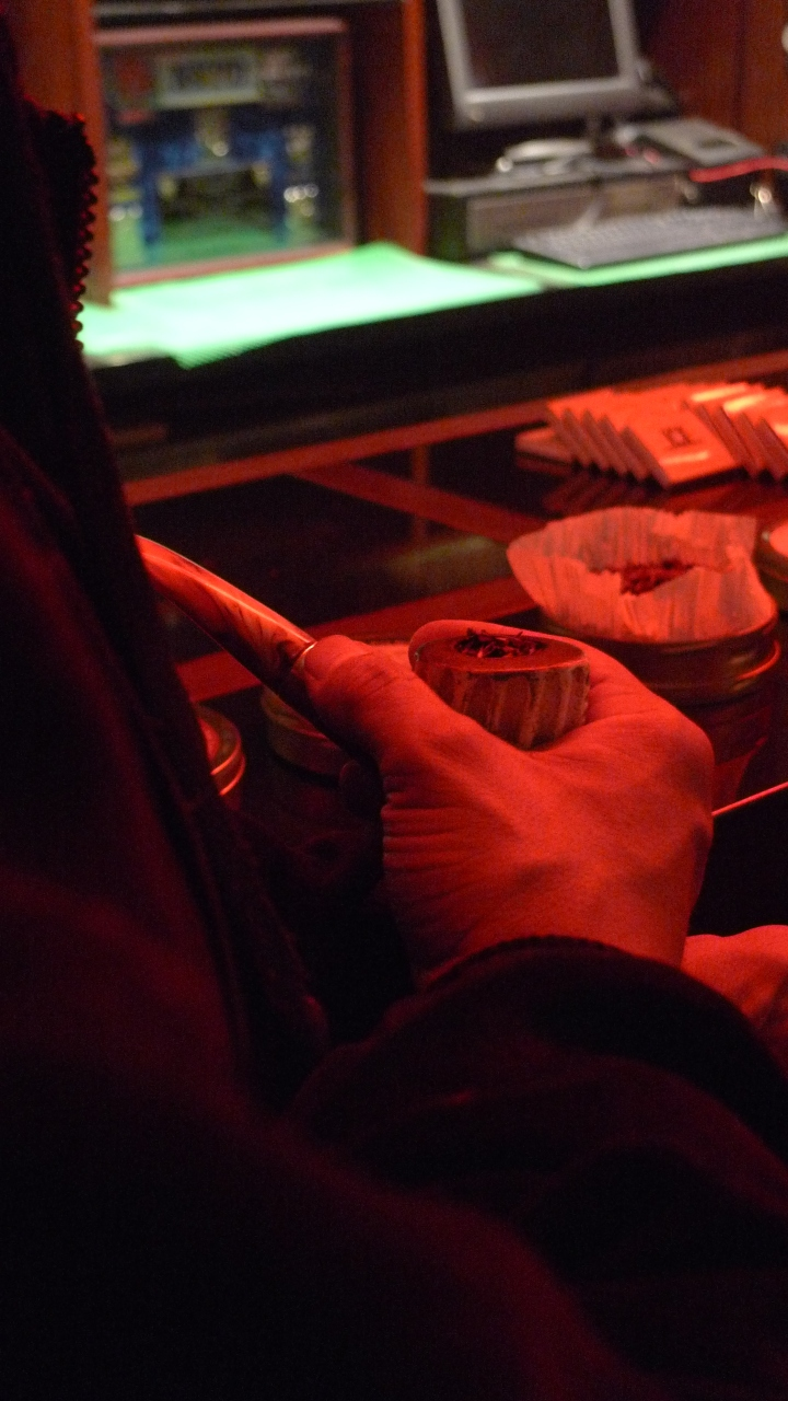 During  the International Pipe Smoking Day celebration by New York Pipe Club at Nat Sherman, New York, NY / Leica D-Lux 4