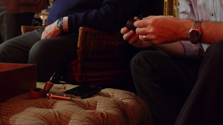 During the International Pipe Smoking Day celebration with New York Pipe Club Members / Nat Sherman, New York, NY / Leica D-Lux 4