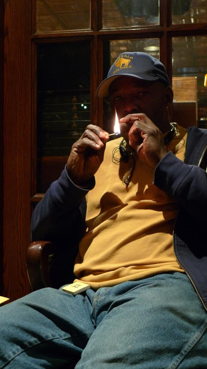 Member of the Cigar Brotherhood - Harlem, New York City / Nat Sherman, New York, NY / Leica D-Lux 4