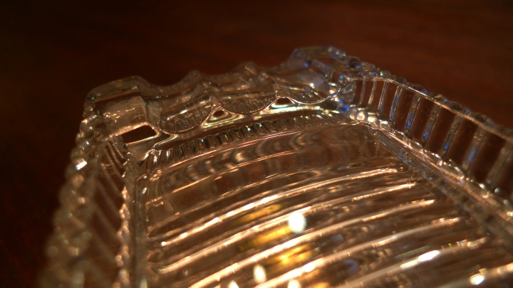 Princess House lead crystal Cigar Ashtray and Box / Made in the Czech Republic / Leica D-Lux 4