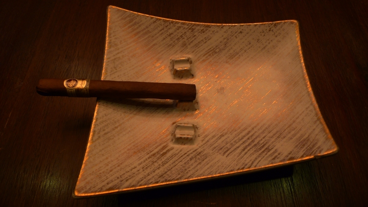 Padrón - Anniversary Series Cigar on Royal Haeger Ashtray - Gold tweed, #127 / Leica D-Lux 4