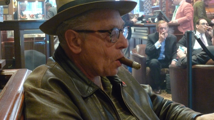Yakov - Photographer with Cigar / Nat Sherman, New York, NY / Leica D-Lux 4