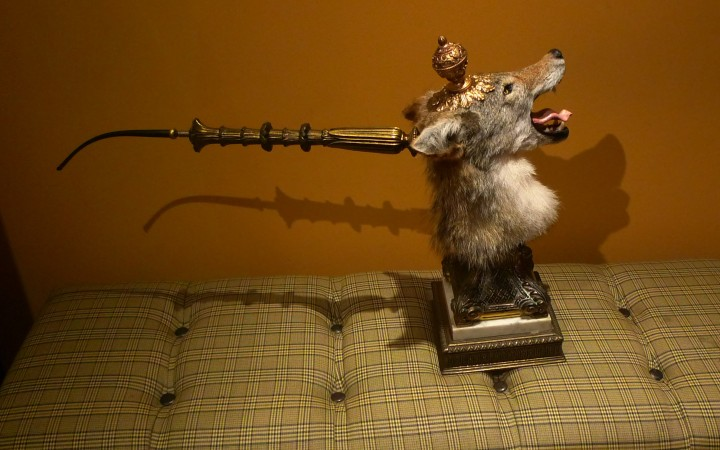 Coyote head, parts of an old lamp and a pipe stem - a fully smokeable tobacco pipe / Courtesy of Baron Ambrosia and The Bronx Pipe Smoking Society / Nat Sherman, New York, NY / Leica D-Lux 4