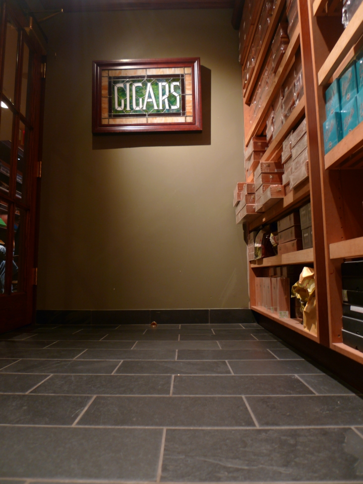 Humidor with Cigar stained window / Nat Sherman, New York, NY / Leica D-Lux 4