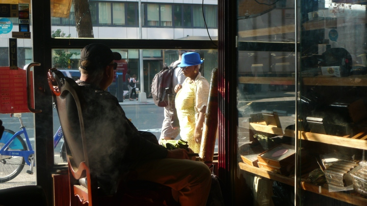 Cigar Smoker / NYC Fine Cigars, New York, NY / Leica D-Lux 4