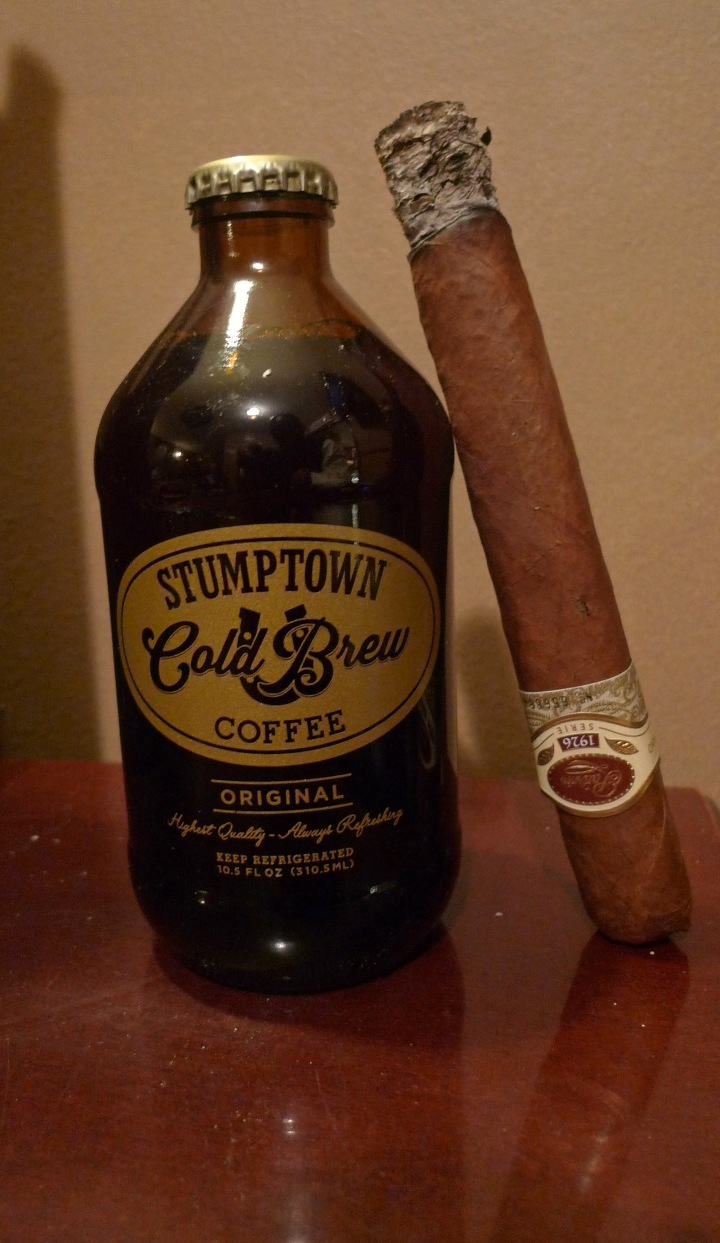 Padrón 1926 Cigar and cold brewed Coffee from Stumptown Coffee Roasters / NYC Fine Cigars, New York, NY / Leica D-Lux 4 / Photo: Sila Blume