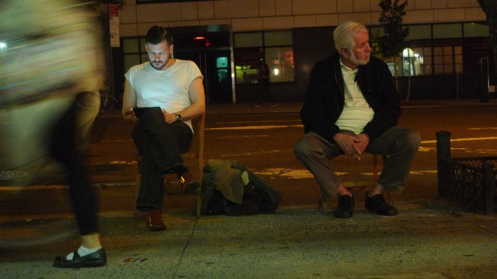 Two men, two beards, two devices and two cigars / NYC Fine Cigars, New York, NY / Leica D-Lux 4 / Photo: Sila Blume