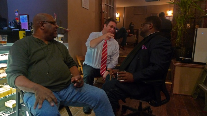 Darryl, Ivan and Marvin / NYC Fine Cigars, New York, NY / Leica D-Lux 4 / Photo: Sila Blume