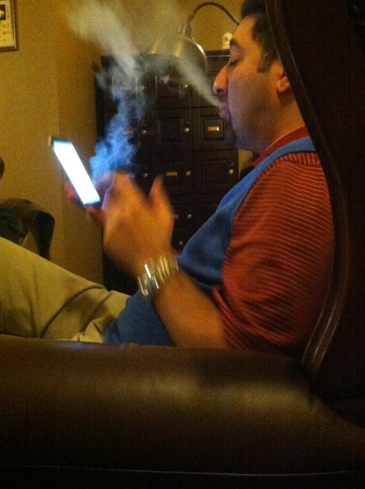 Ali / NYC Fine Cigars, New York, NY / iPhone 4 / Photo: Sila Blume